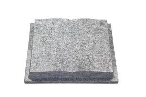 Kissenstein in Buchform für ein Urnengrab