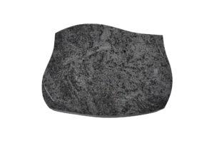 Grabgestaltung: Grabplatte aus schwarzem Granit