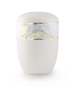 Seeurne mit Seekarte weiß