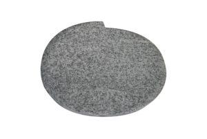 Grabplatte aus weißem Granit