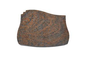 Grabplatte aus mehrfarbigem Granit