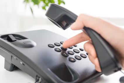 Anruf per Tastentelefon