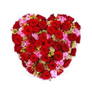 Trauerfloristik: Herzförmiges Trauergesteck
