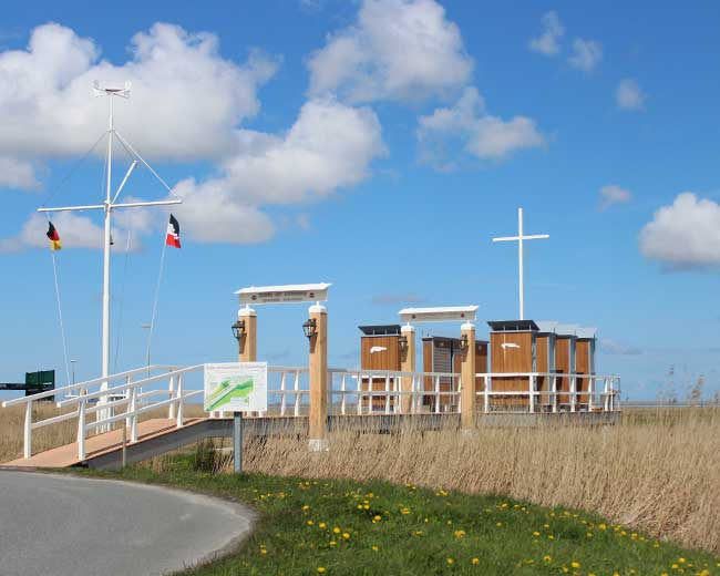 Gedenkstätte für Seebestattungen auf der Nordsee in Harlesiel