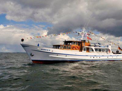 Seebestattung vor Warnemünde: Motoryacht MS Merkur II
