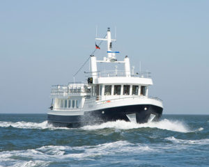 Seebestattung vor Wangerooge: MS Horizont, Reederei Albrecht