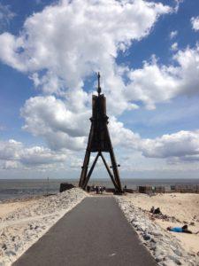 Seebestattung vor Cuxhaven: die Kugelbake
