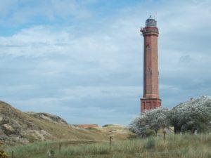 Seebestattung vor Norderney: Leuchtturm