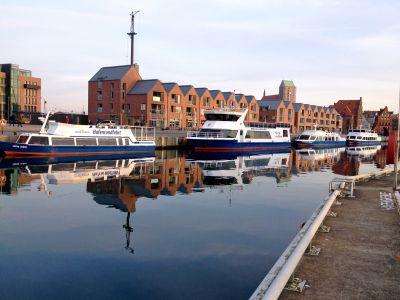Seebestattung vor Wismar: Liegeplatz Alter Hafen