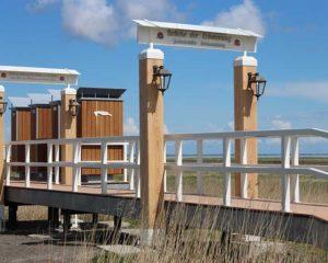 Seebestattung vor Neuharlingersiel: Gedenkstaette Harlesiel