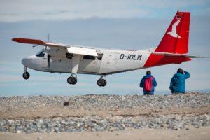 Seebestattung vor Helgoland: Flughafen