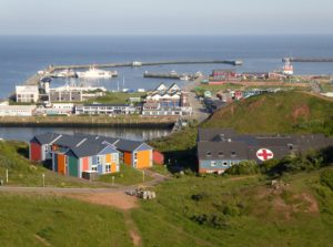 Seebestattung vor Helgoland: Hafen