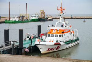 Seebestattung vor Hooksiel: Hafen