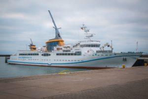 Seebestattung vor Helgoland: MS Helgoland
