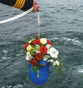 Seebestattung vor Langeoog: Beisetzung