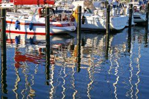 Seebestattung vor Flensburg: Yachthafen Langballigau
