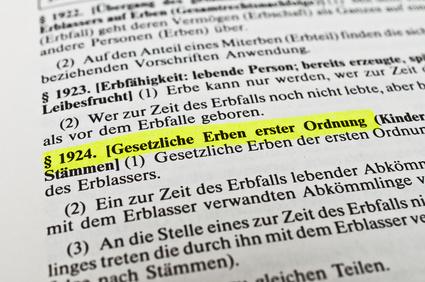 Nachlass regeln: Gesetzliche Erben nach deutschem Erbrecht