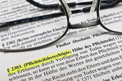 Pflichtteil im deutschen Erbrecht