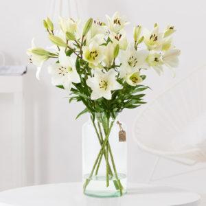 Mit Blumen kondolieren