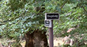 RuheForst Pfälzerwald, Hinweisschilder
