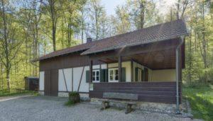 Schutzhütte im FriedWald Münsingen