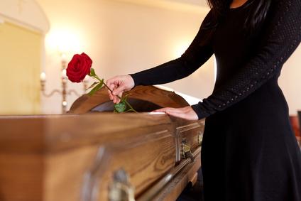 Offene Aufbahrung in der Trauerhalle