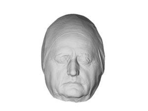 Ältere Totenmaske aus Gips