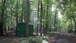 FriedWald Meroder Wald, Schutzwagen mit Toilette