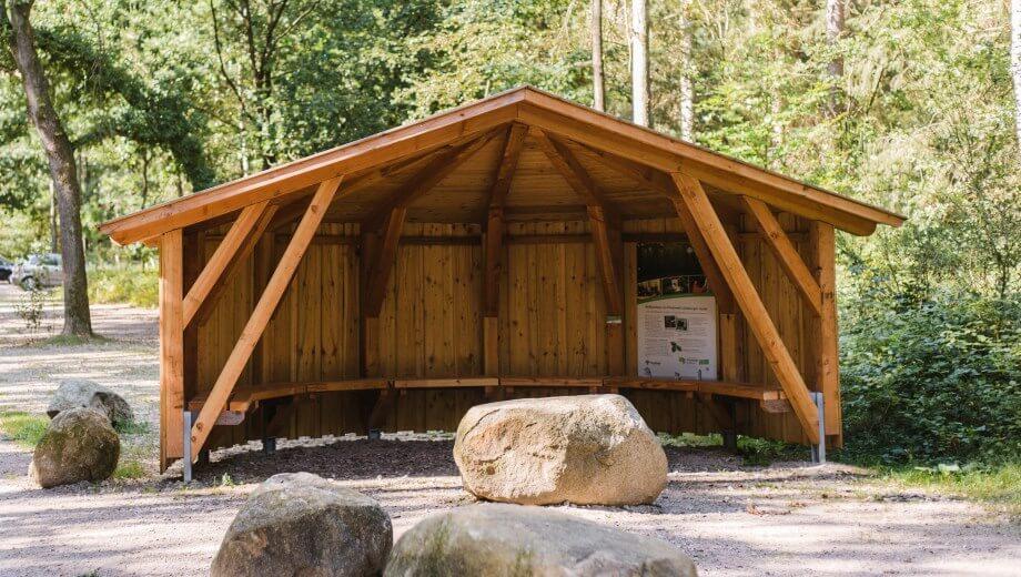Schutzhütte | Quelle: FriedWald Lüneburger Heide