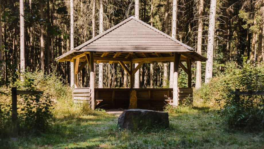 Schutzhütte | Quelle: FriedWald Bramsche