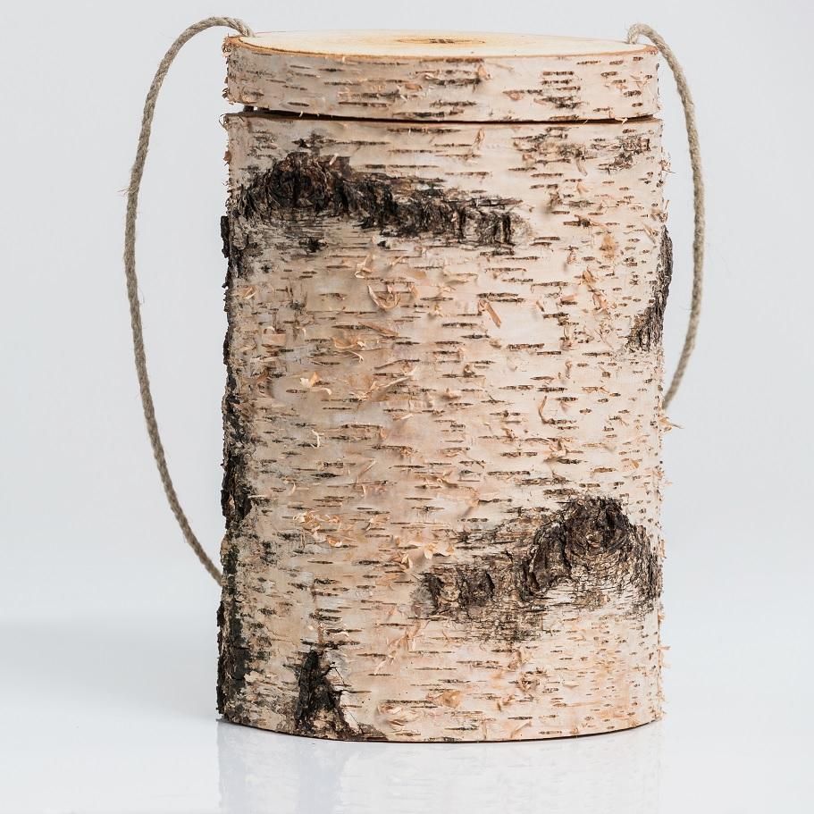 FriedWald Hasbruch, Urne mit Birkenrinde